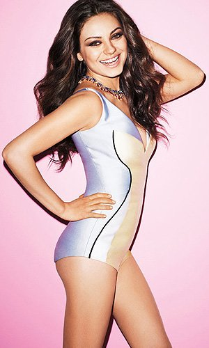 Kunis says she'd be happy if her butt got bigger. (Terry Richardson/Harper's Bazaar)