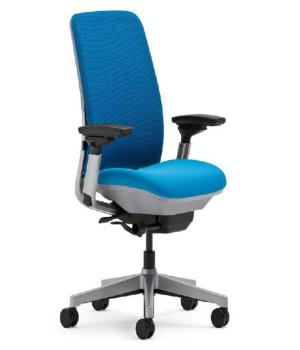 This undated photo provided by the U.S. Consumer Product Safety Commission, shows the Steelcase Inc., model 482 series Amia desk chair. The chairs are being recalled because the pins in the control mechanism under the seat can fall out, which could result in the user falling from the chair. The company will provide its customers with covers for the pins to prevent the problem. (AP Photo/U.S. Consumer Product Safety Commission)