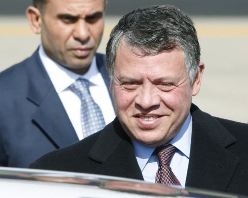 Vice President Joe Biden was to meet King Abdullah II of Jordan, pictured in March, a key US ally in the Middle East that has seen an influx of refugees from the conflict in neighboring Syria