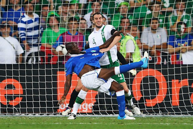 Mario Balotelli Of Italy Scores Getty Images