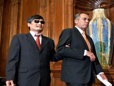 Chinese dissident, members of Congress meet