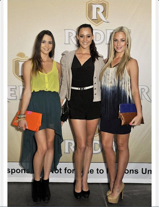 Reeva and two friends in a picture posted by the model and law graduate on Twitter. Pistorius faces murder charges after the model was found dead at his home in Pretoria, South Africa (Twitter: Reeva