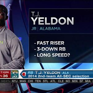 Jacksonville Jaguars pick running back T.J. Yeldon No. 36 in 2015 NFL Draft