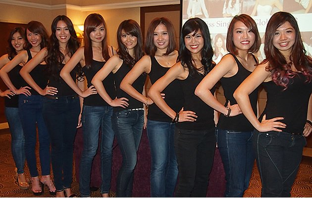 Finalists for Miss Singapore Global 2013