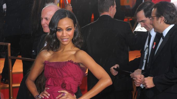 67th Annual Golden Globe Awards 2010 Zoe Saldana