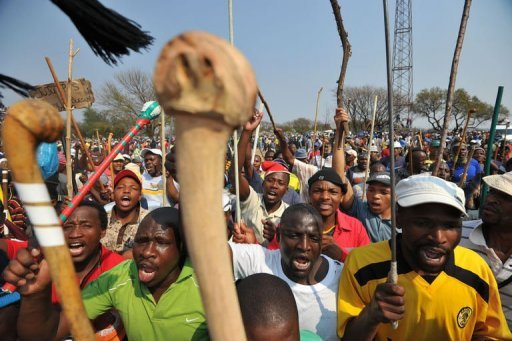 &lt;p&gt;Thousands of South African miners attend a rally in Rustenburg on September 13. South African police fired tear gas to disperse striking mine workers who were trying to prevent a mass rally by the country&#39;s main mining union.&lt;/p&gt;