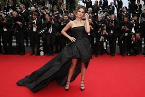 """Singer Cheryl Cole poses on the red carpet as she arrives for the screening of the film """"Foxcatcher"""" in competition at the 67th Cannes Film Festival in Cannes"""