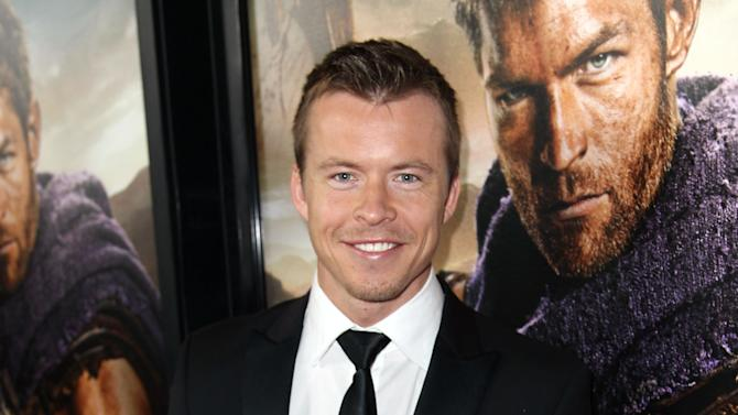 """Todd Lasance arrives at the premiere of """"Spartacus: War of the Damned"""" on Tuesday, Jan. 22, 2013 in Los Angeles. """"Spartacus: War of the Damned"""" premieres Friday, Jan. 25 at 9PM on STARZ. (Photo by Matt Sayles/Invision for STARZ/AP Images)"""