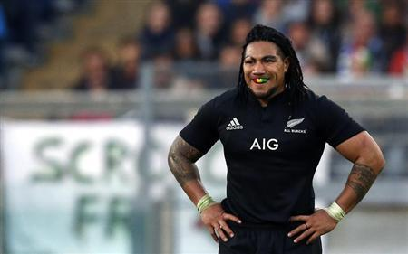 New Zealand All Blacks' Ma'a Nonu looks on during their test rugby union match against Italy at the Olympic stadium in Rome