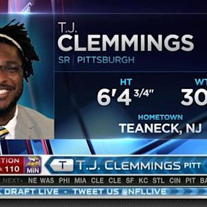 Minnesota Vikings pick tackle T.J. Clemmings No. 110 in the 2015 NFL Draft
