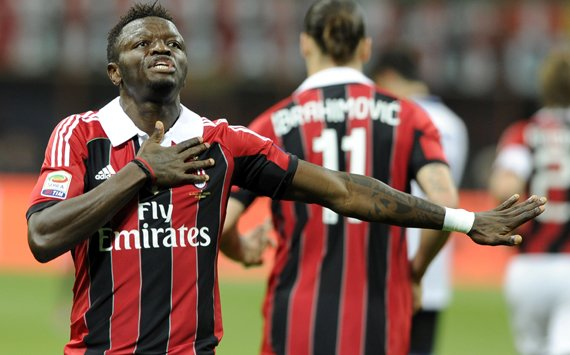 AC Milan's Muntari vows to return 'as quickly as possible'