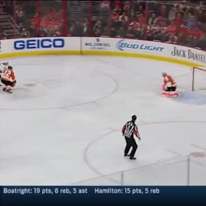 Ray Emery Save on Zach Parise (03:26/1st)