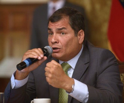 <p>Ecuadorean President Rafael Correa, pictured in a file photo, said Ecuador will fight to avoid paying a fine to Occidental Petroleum as compensation for canceling a contract with the US oil giant.</p>