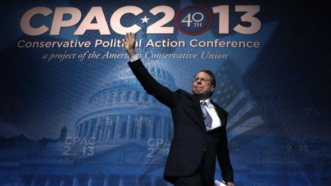 Wayne LaPierre, head of the National Rifle Association, at the Conservative Political Action Conference on March 15.