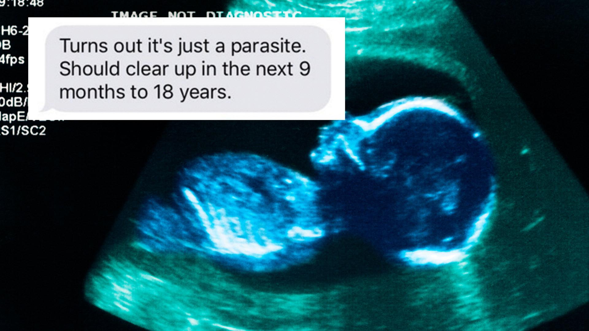 Man texts a friend about his wife's pregnancy in the best way