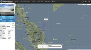 This screengrab from flightradar24.com shows the last …