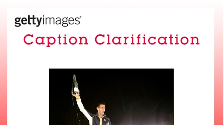 CAPTION CLARIFICATION - Australian Open 2013 - Men's Champion Photocall
