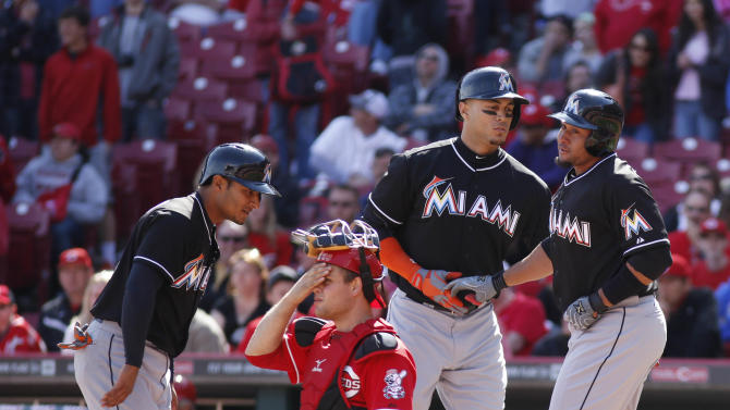 MLB: Miami Marlins at Cincinnati Reds