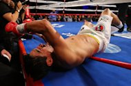 NEW YORK, NY - OCTOBER 20:  Erik Morales is knocked out by Danny Garcia in the fourth round during their WBC/WBA junior welterweight title at the Barclays Center on October 20, 2012 in the Brooklyn Borough of New York City.  (Photo by Al Bello/Getty Images for Golden Boy Promotions)