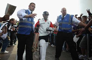 A simple walk to the nets turned out to be an ordeal for Tendulkar on Monday when he was mobbed by fans.