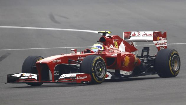 Ferrari Formula One driver Massa drives during the Indian F1 Grand Prix at the Buddh International Circuit in Greater Noida
