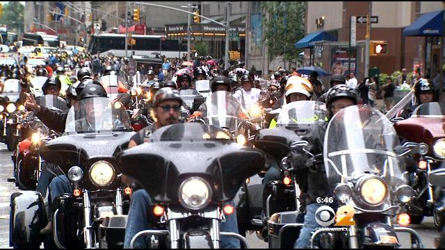 Hundreds Of Bikers Take Part In 9/11 Memorial Ride Through Manhattan