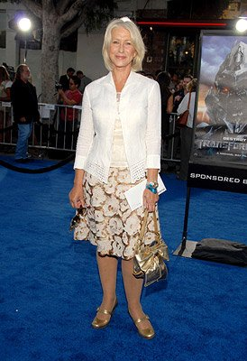 Helen Mirren at the Los Angeles premiere of DreamWorks/Paramount Pictures' Transformers