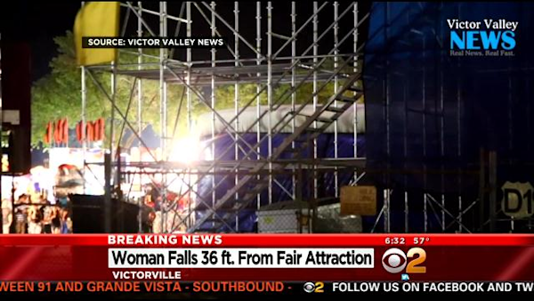 Woman dies from fall at Southern California fair attraction