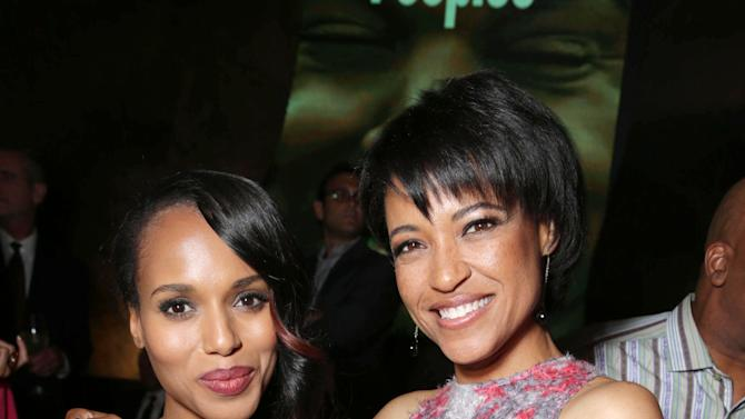 Kerry Washington and Writer/director Tina Gordon Chism at the Lionsgate Los Angeles Premiere of Peeples, on Wednesday, May, 8, 2013 in Los Angeles. (Photo by Eric Charbonneau/Invision for Lionsgate/AP Images)