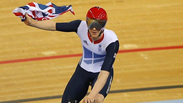 Britain's Ed Clancy celebrates (Reuters)