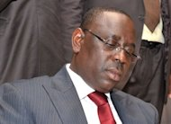 Newly elected Senegalese President Macky Sall reads his first victory speech in Dakar. Sall on Monday hailed a new era after triumphing over veteran leader Abdoulaye Wade in a presidential poll lauded the world over as an example for African democracy