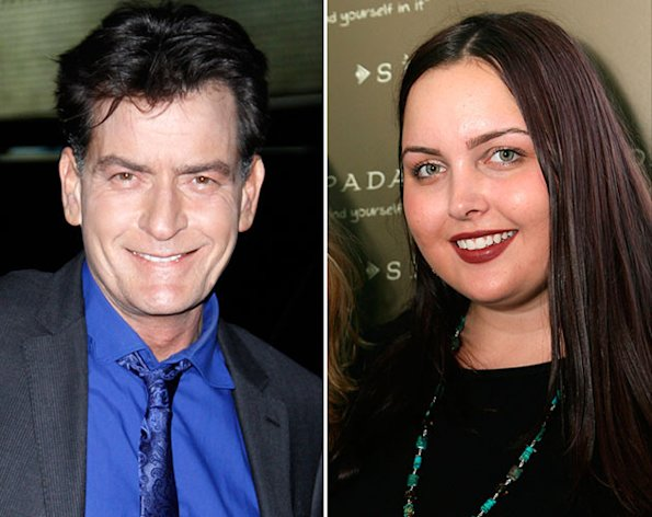 Charlie Sheen and his oldest daughter, Cassandra.