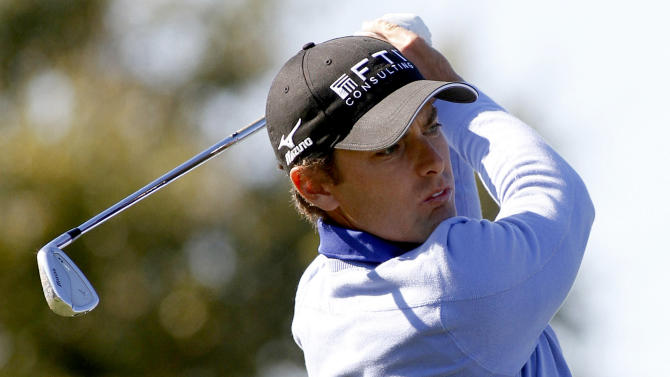Charles Howell III tees off on the 12th hole during the first round of the Children's Miracle Network Hospitals Classic golf tournament in Lake Buena Vista, Fla., Thursday, Nov. 8, 2012. (AP Photo/Reinhold Matay)