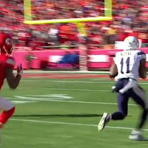 San Diego Chargers quarterback Philip Rivers finds Eddie Royal again for 44 yards