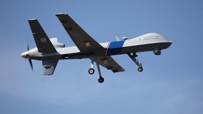 This undated photo provided by U.S. Customs and Border Protection shows an unmanned drone used to patrol the U.S.-Canadian border. A freshman lawmaker from North Dakota says he plans to introduce a bill that would limit the use of unmanned aerial systems for law enforcement, following the highly publicized case of a Lakota farmer who was arrested after a 16-hour standoff with police. (AP Photo/U.S. Customs and Border Protection)