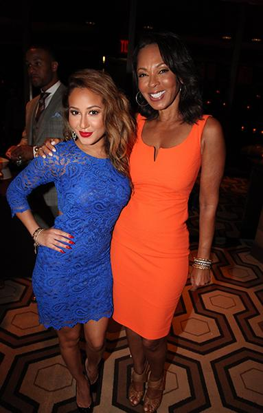 Producer Debra Martin Chase and Adrienne Bailon