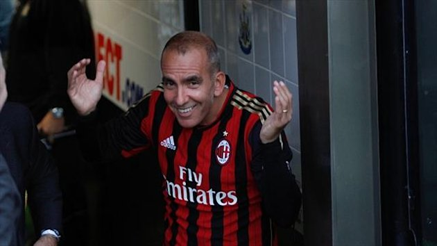 Paolo Di Canio was on target in Steve Harper's testimonial
