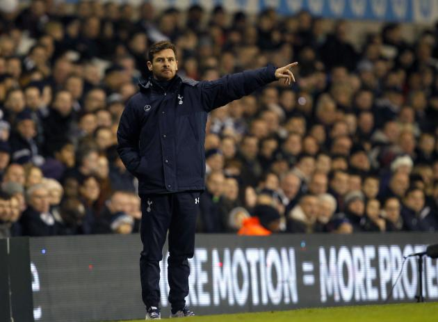Tottenham Hotspur's manager Andre Villas-Boas instructs his team during their Europa League soccer match against Anzhi Makhachkala at White Hart Lane in London