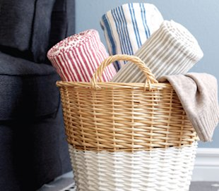 How to update your wicker baskets with the dip-dye effect