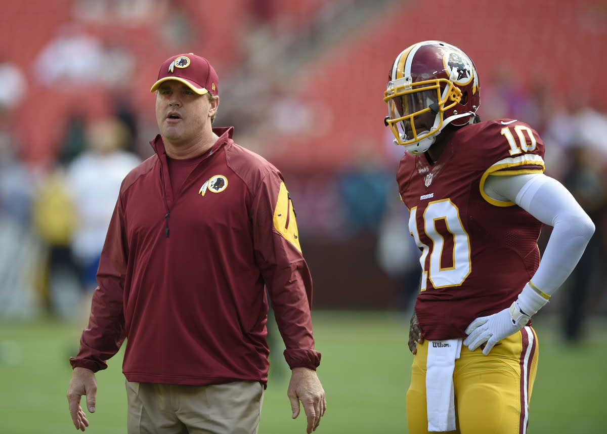 The Redskins have benched Robert Griffin III, and it looks like he's done in Washington