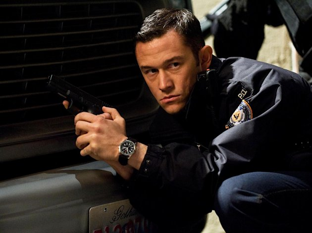 In this publicity photo provided by Warner Bros. Pictures, Joseph Gordon-Levitt, as John Blake, is shown in a scene in Warner Bros. Pictures and Legendary Pictures action thriller The Dark Knight Rises,&quot; a Warner Bros. Pictures release. TM &  DC Comics. (AP Photo/Warner Bros. Pictures, Ron Phillips)