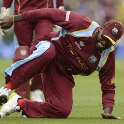 Gayle shrugs off three car crashes