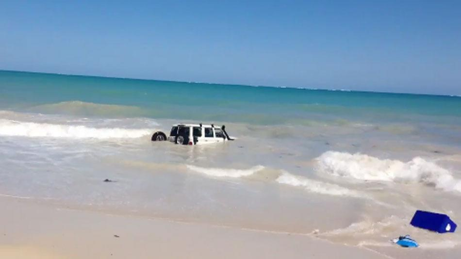 Australian Man Drives Car Into Ocean to Escape Police, Fails