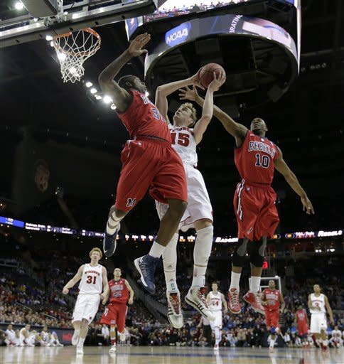 Mississippi beats Wisconsin 57-46 in NCAA tourney