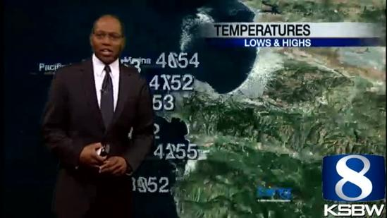 Check out your Sunday evening KSBW Weather Forecast 1 27 13