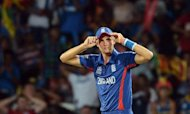 "England cricket captain Stuart Broad gestures after a misfield during his side's defeat to hosts Sri Lanka. Broad has admitted his inexperienced team was ""not good enough"""