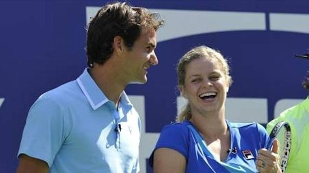 Roger Federer and Kim Clijsters
