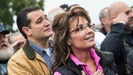 Palin, Cruz Critical of Obama at World War II Memorial