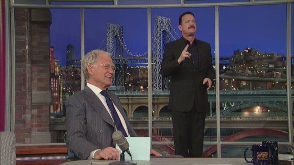 David Letterman - Tom Hanks and Top Ten Birds