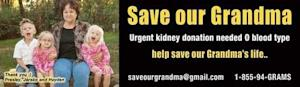 Detroit-Area Billboard Seeks Kidney Donation for Grandma